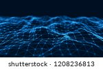 network connection structure.... | Shutterstock . vector #1208236813