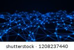 network connection structure.... | Shutterstock . vector #1208237440