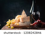 Various Types Of Cheese And Re...