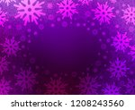 dark purple vector layout with... | Shutterstock .eps vector #1208243560