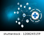 abstract concept symbol medical ... | Shutterstock .eps vector #1208245159