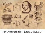 literature hand drawn vector... | Shutterstock .eps vector #1208246680