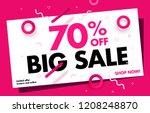 70  off big sale discount... | Shutterstock .eps vector #1208248870