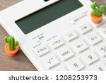 keypad tax button for tax... | Shutterstock . vector #1208253973