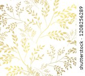 elegant golden pattern with... | Shutterstock .eps vector #1208256289