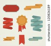 set of vector labels | Shutterstock .eps vector #120826189