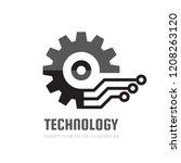 digital tech   vector business... | Shutterstock .eps vector #1208263120