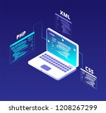 coding concept. website... | Shutterstock .eps vector #1208267299