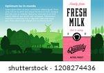 vector milk illustration with... | Shutterstock .eps vector #1208274436