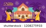 diwali deepavali vector... | Shutterstock .eps vector #1208275933