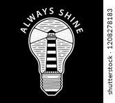 retro lighthouse in bulb....   Shutterstock .eps vector #1208278183