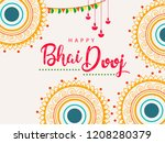 happy bhai dhooj  colorful... | Shutterstock .eps vector #1208280379