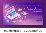 customer relationship... | Shutterstock .eps vector #1208280430
