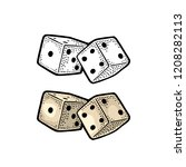 two white dice. vector color... | Shutterstock .eps vector #1208282113