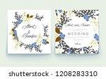 wedding flora invitation  thank ...   Shutterstock .eps vector #1208283310