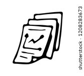 handdrawn document doodle icon. ...
