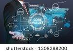 core values  business ethics...   Shutterstock . vector #1208288200