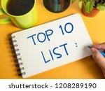 top 10 list  business...   Shutterstock . vector #1208289190