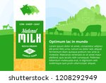 vector milk illustration with... | Shutterstock .eps vector #1208292949