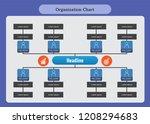 organization chart infographics  | Shutterstock .eps vector #1208294683