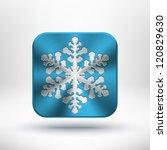 christmas snowflake icon with...
