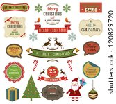 collection of christmas design... | Shutterstock .eps vector #120829720