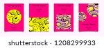 trendy vector fluid psychedelic ... | Shutterstock .eps vector #1208299933