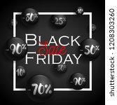 black friday label concept for... | Shutterstock .eps vector #1208303260