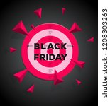 black friday logo concept with... | Shutterstock .eps vector #1208303263