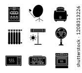 household appliance glyph icons ... | Shutterstock .eps vector #1208313226