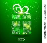 christmas background. gift box... | Shutterstock .eps vector #120831823