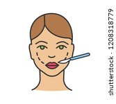 cheek lift surgery color icon.... | Shutterstock .eps vector #1208318779