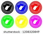west virginia   rubber stamp  ...   Shutterstock .eps vector #1208320849
