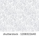 field of fantasy plants. doodle ... | Shutterstock .eps vector #1208322640