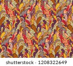 autumn plants and leaves.... | Shutterstock .eps vector #1208322649