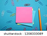 reminder notepad  color office... | Shutterstock . vector #1208333089