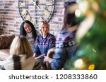 group of young women hanging... | Shutterstock . vector #1208333860