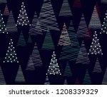 seamless vector christmas... | Shutterstock .eps vector #1208339329