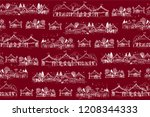seamless vector pattern with... | Shutterstock .eps vector #1208344333