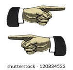 hand with pointing finger left... | Shutterstock .eps vector #120834523