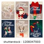 vector illustration set of... | Shutterstock .eps vector #1208347003