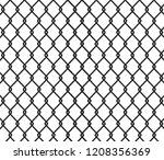 fence black background   vector | Shutterstock .eps vector #1208356369