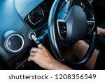 finger of man press start...   Shutterstock . vector #1208356549