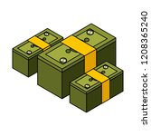 business financial money | Shutterstock .eps vector #1208365240