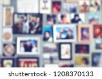 blurred background with... | Shutterstock . vector #1208370133