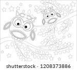 coloring book for adult and... | Shutterstock .eps vector #1208373886