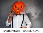 handsome man with carved... | Shutterstock . vector #1208374693