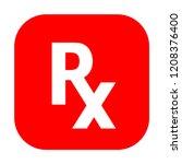 rx medical prescription vector... | Shutterstock .eps vector #1208376400