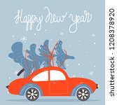 christmas and happy new year... | Shutterstock .eps vector #1208378920