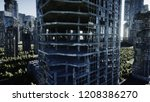 apocalypse city. aerial view of ... | Shutterstock . vector #1208386270